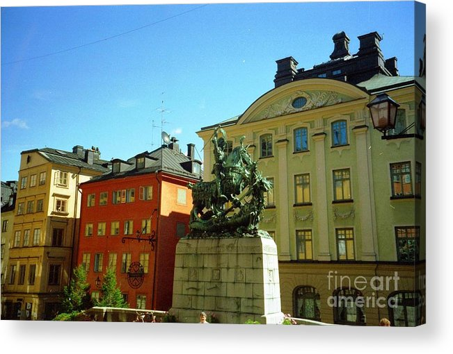 Sweden Acrylic Print featuring the photograph Stockholm City Art by Ted Pollard