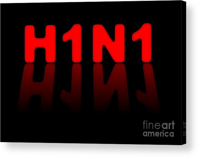 H1n1 Acrylic Print featuring the digital art H1n1 Sign by Henrik Lehnerer