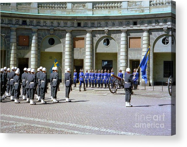 Sweden Acrylic Print featuring the photograph Stockholm Guard Change by Ted Pollard