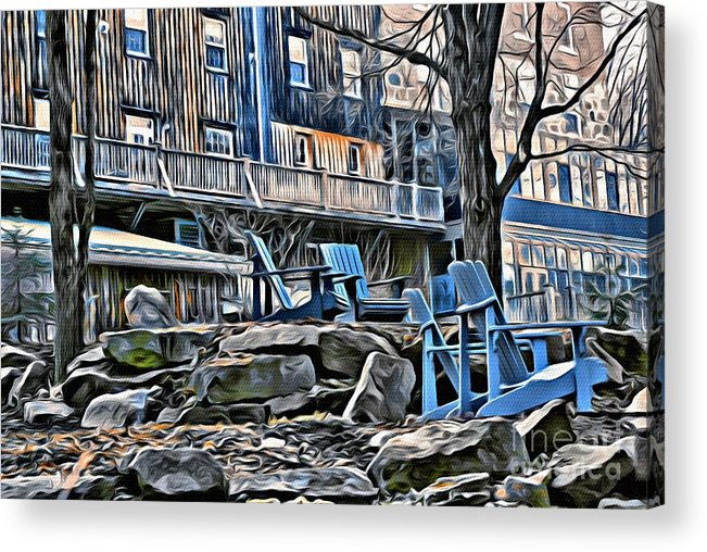 Chairs Acrylic Print featuring the photograph 9328 by Charles Cunningham