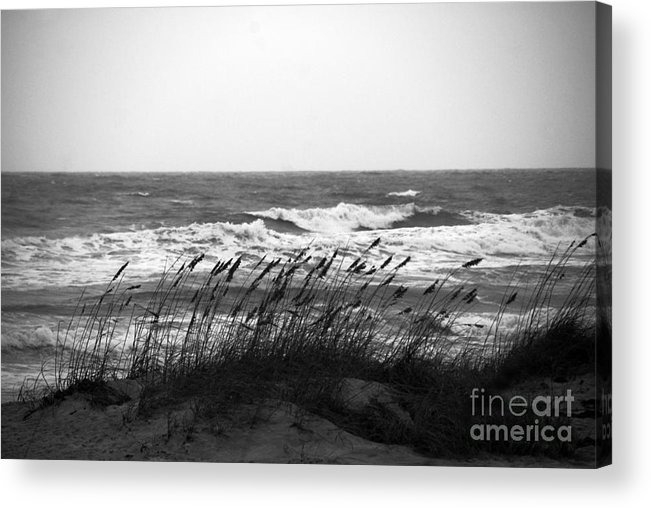 Waves Acrylic Print featuring the photograph A Gray November Day At The Beach by Susanne Van Hulst