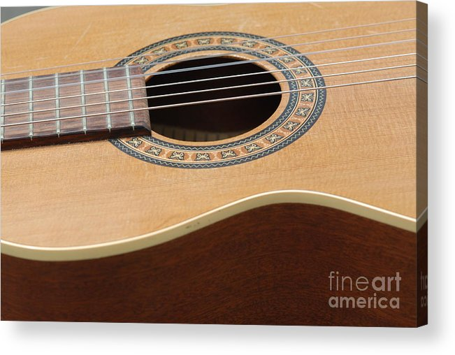 Guitar Acrylic Print featuring the photograph A Music Maker 4 by Paddy Shaffer