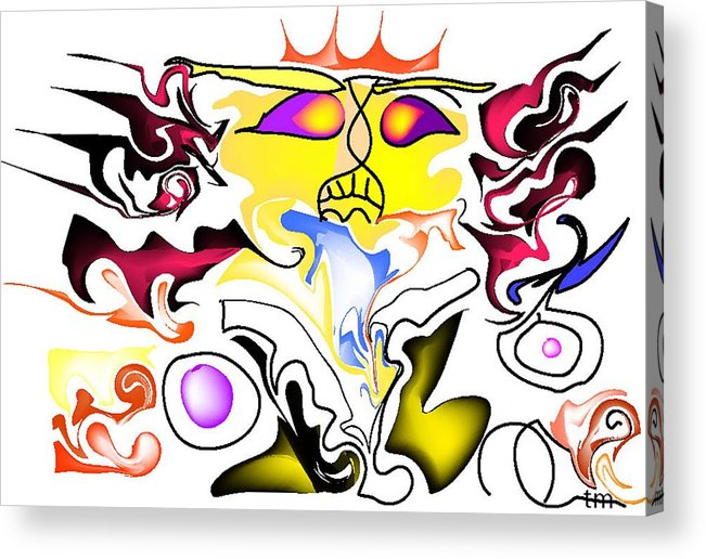 Life's Crazy Acrylic Print featuring the digital art Angry Sunset by Andy Cordan