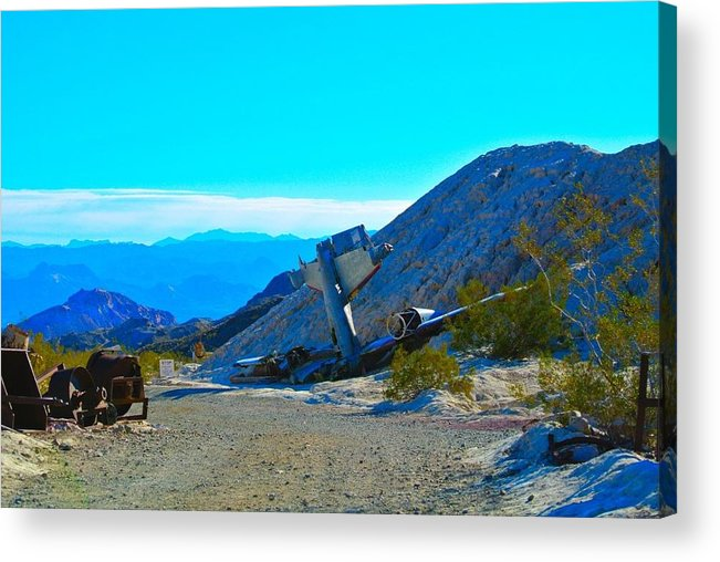 Desert Acrylic Print featuring the photograph Bad Landing by Steve Perry