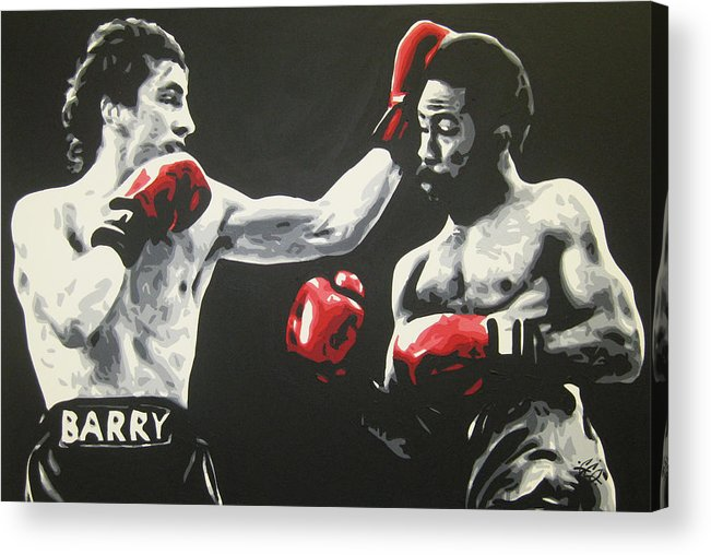 Barry Acrylic Print featuring the painting Barry by Geo Thomson