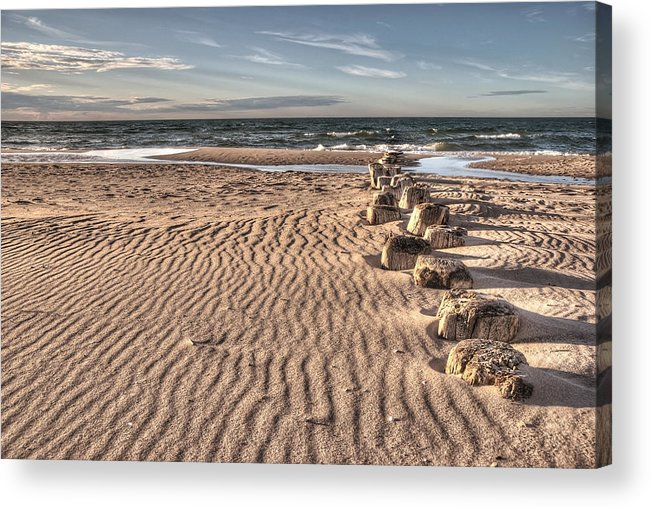 Ostsee Acrylic Print featuring the pyrography Bealtic Beach by Steffen Gierok