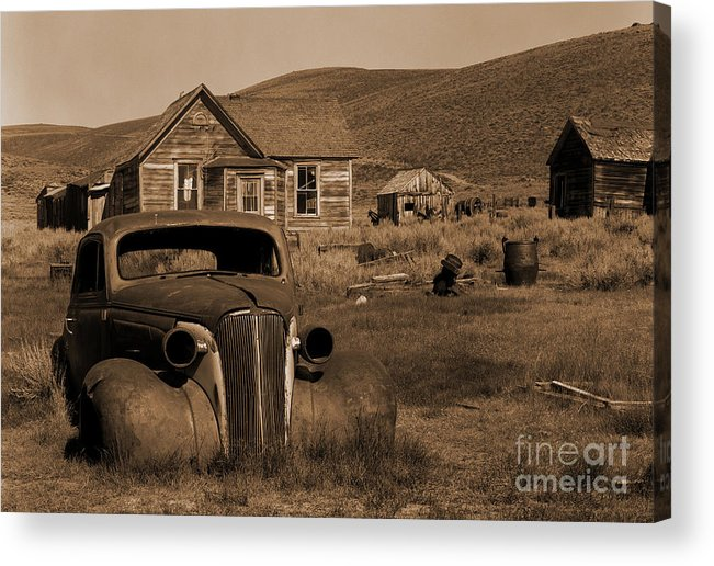 Car Acrylic Print featuring the photograph Bodie  #72986 by J L Woody Wooden