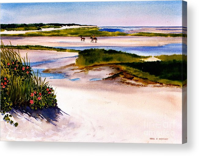 Beach Acrylic Print featuring the painting Brewster Ebb Tide by Karol Wyckoff