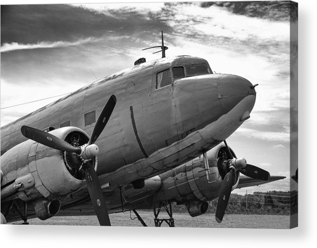 Aviation Acrylic Print featuring the photograph C-47 Skytrain by Guy Whiteley