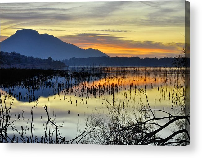 Sunrise Acrylic Print featuring the photograph Calm At The Lake by Guido Montanes Castillo