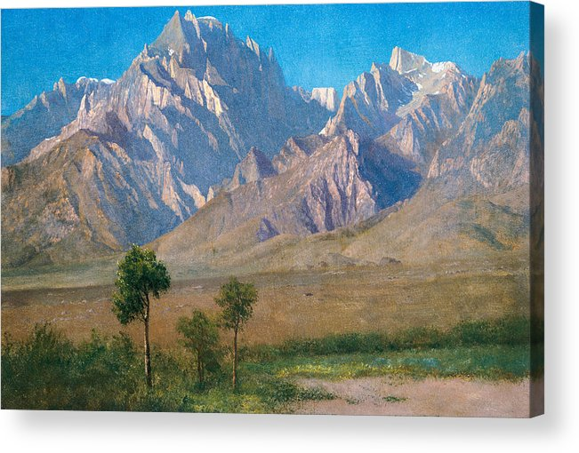 American Landscape Acrylic Print featuring the painting Camp Independence Colorado by Albert Bierstadt