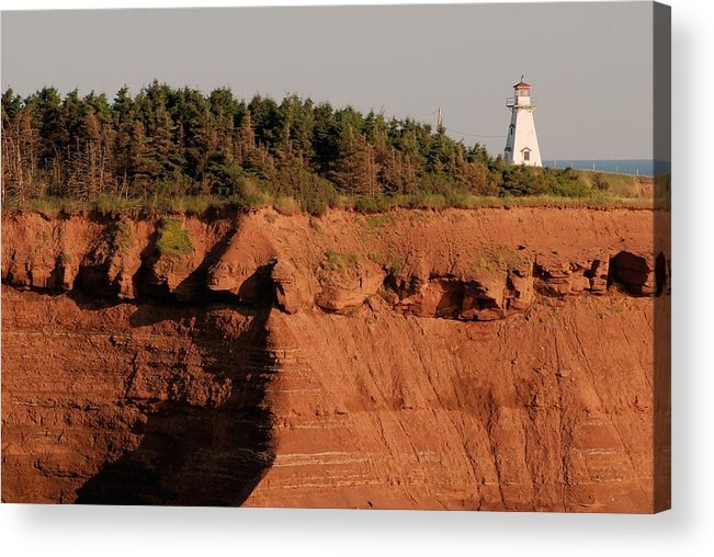 Lighthouse Acrylic Print featuring the photograph Cape Tryon Light by Frank Falzett