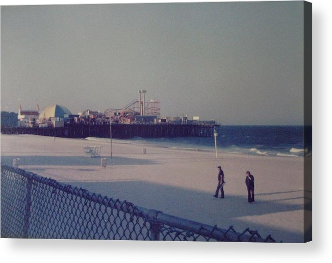 Beach Acrylic Print featuring the photograph Casino Pier Seaside Heights Nj by Joann Renner