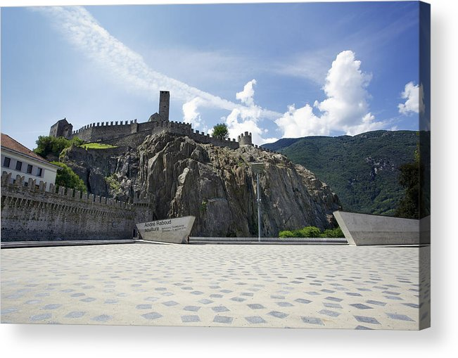 Castelgrande Acrylic Print featuring the photograph Castelgrande - Bellinzona by Radka Linkova
