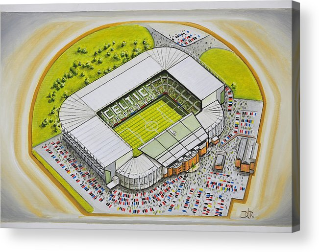 Celtic Acrylic Print featuring the painting Celtic Park by D J Rogers
