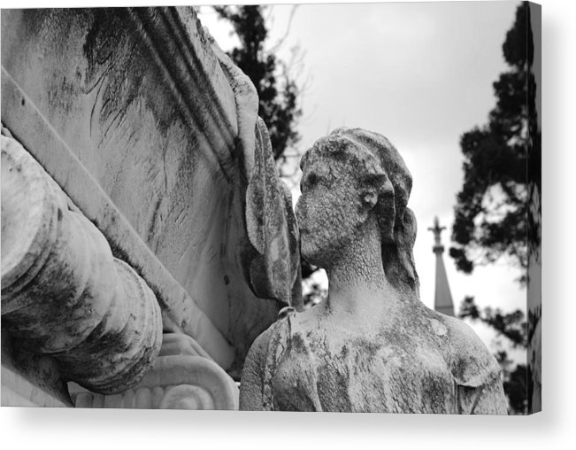 Cemetery Acrylic Print featuring the photograph Cemetery Gentlewoman by Jennifer Ancker