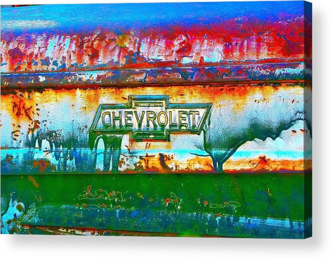 Desert Acrylic Print featuring the photograph Chevy Truck by Steve Perry