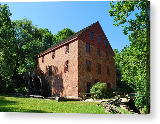 Colvin Run Acrylic Print featuring the photograph Colvin Run Grist Mill by Bob Sample