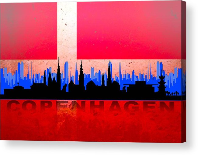 Architecture Acrylic Print featuring the digital art Copenhagen City by Don Kuing