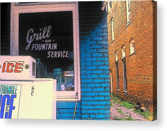 Fine Art Acrylic Print featuring the photograph Corner Of Store by Rodney Lee Williams