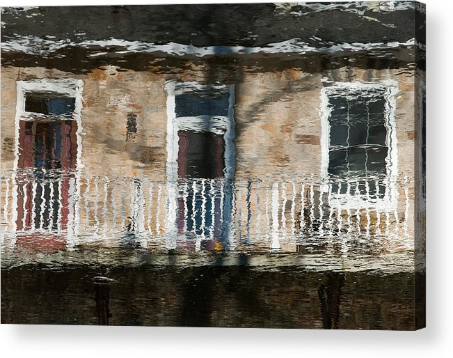 Building Acrylic Print featuring the photograph Door Reflections 2 In Perth Ontario by Rob Huntley