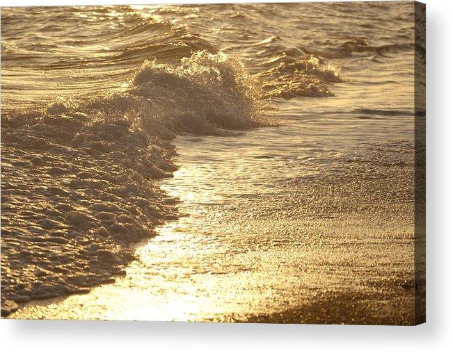 Evening Sun Acrylic Print featuring the photograph Evening Sun Hive Beach Two by Simon Kennedy