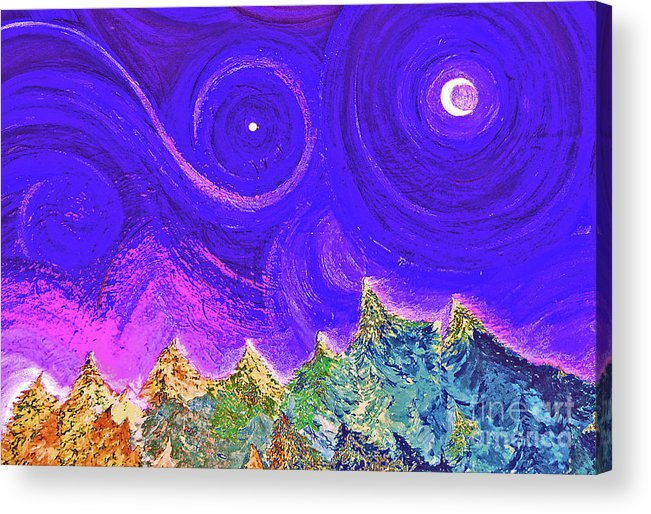 First Star Acrylic Print featuring the painting First Star Sunrise by First Star Art