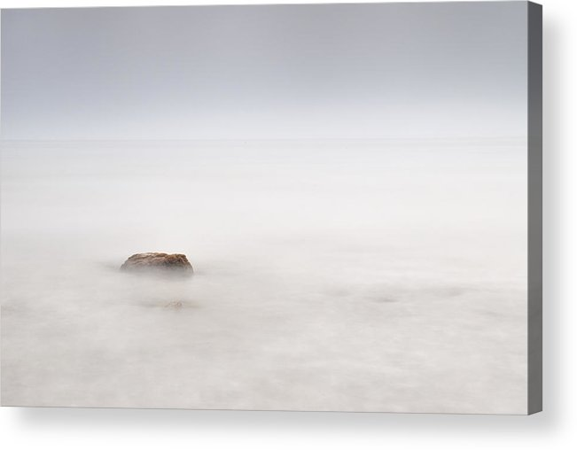 Seascape Acrylic Print featuring the photograph Foggy Evening by Guido Montanes Castillo