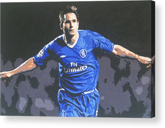 Frank Lampard Acrylic Print featuring the painting Frank Lampard - Chelsea Fc by Geo Thomson