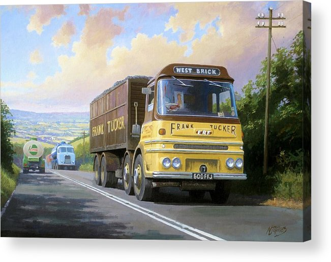 United Kingdom Acrylic Print featuring the painting Frank Tucker's Erf. by Mike Jeffries