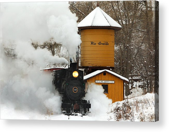 Colorado Railroad Museum Acrylic Print featuring the photograph Full Steam Ahead by Ken Smith