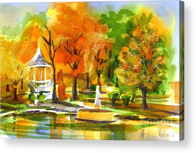 Golden Autumn Day 2 Acrylic Print featuring the painting Golden Autumn Day 2 by Kip DeVore