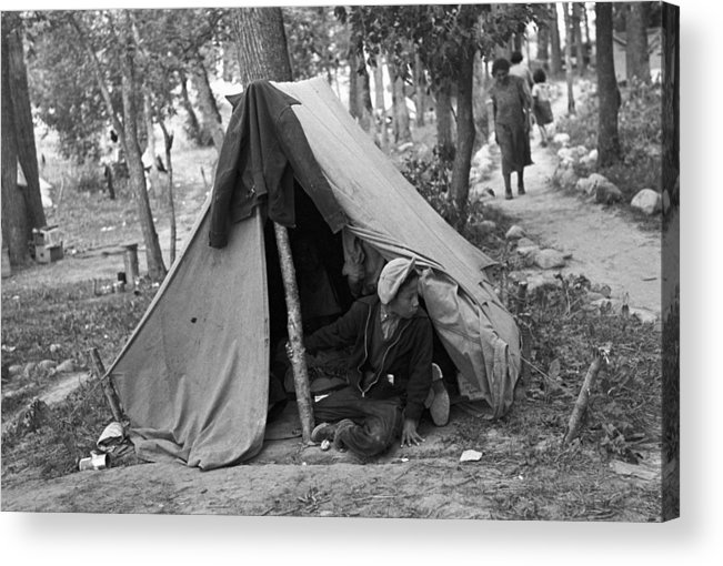 1937 Acrylic Print featuring the photograph Homeless Boy, 1937 by Granger