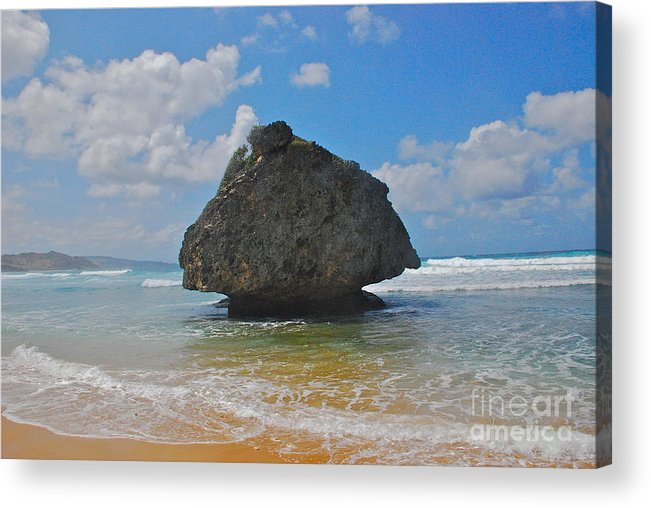 Barbados Acrylic Print featuring the photograph Island Rock by Blake Yeager