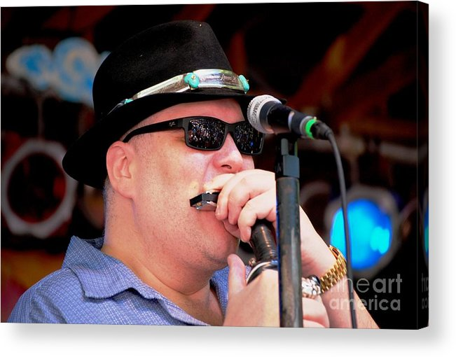 Music Acrylic Print featuring the photograph John Popper by Angela Murray