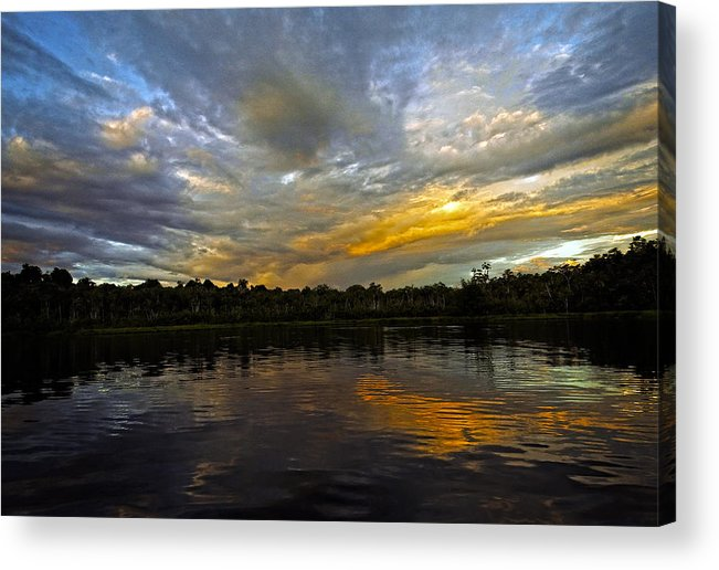 Sunset Acrylic Print featuring the photograph Lagoon Sunset In The Jungle by Kurt Van Wagner