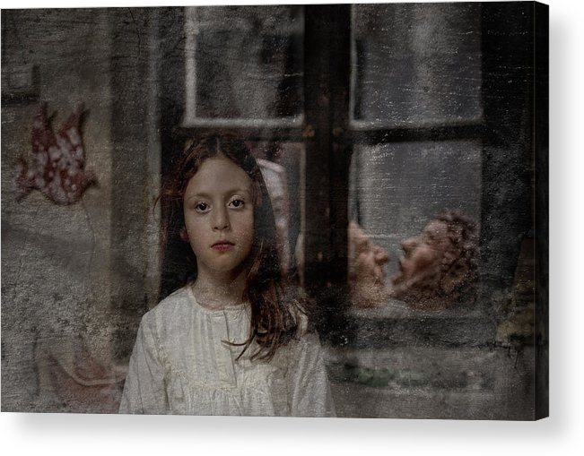 Little Acrylic Print featuring the photograph Little Girl by Nur TANRIOVEN