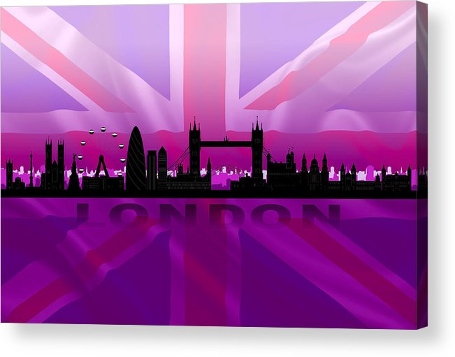 Architecture Acrylic Print featuring the digital art London City by Don Kuing