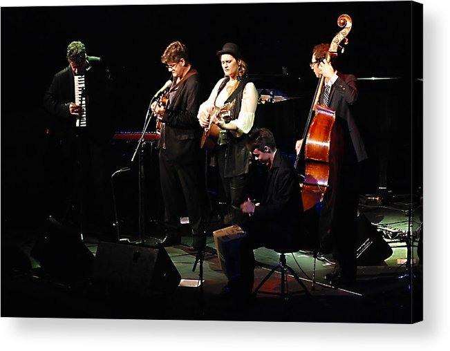 Live Acrylic Print featuring the photograph Madeleine Peyroux In Concert by Andrei SKY