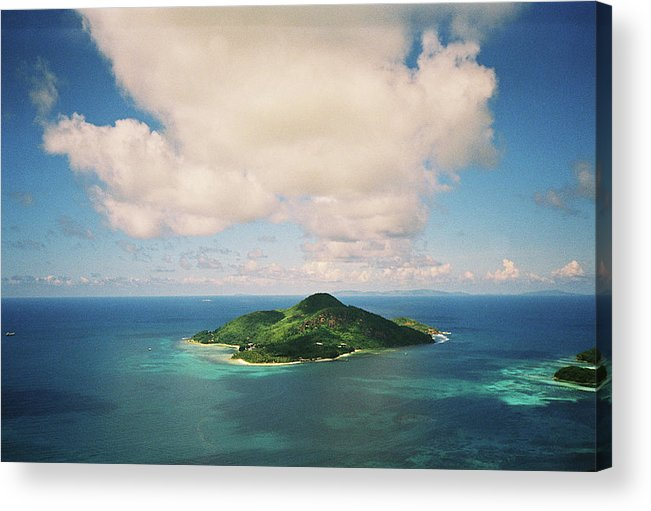 Scenics Acrylic Print featuring the photograph Mahé, Seychelles, From A Helicopter by Jens Kuhfs
