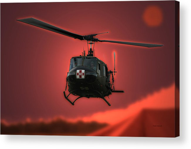 Dust Off Acrylic Print featuring the photograph Medevac The Sound Of Hope by Thomas Woolworth