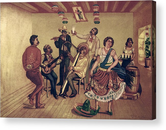 20th Century Acrylic Print featuring the photograph Mexico: Hat Dance by Granger
