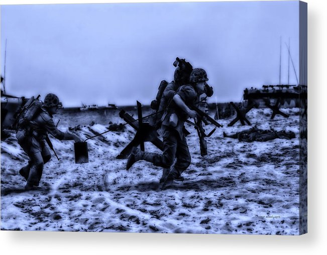 Surrealist Acrylic Print featuring the photograph Midnight Battle Stay Close by Thomas Woolworth