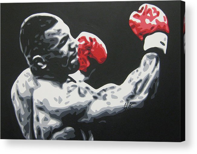 Mike Tyson Acrylic Print featuring the painting Mike Tyson 6 by Geo Thomson