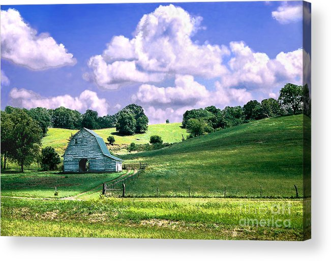 Landscape Acrylic Print featuring the photograph Missouri River Valley by Steve Karol