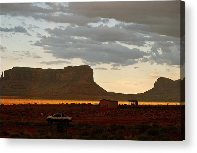Usa Acrylic Print featuring the photograph Monument Valley Glow 1 by Louise Morgan