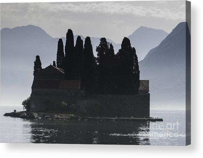 Perast Acrylic Print featuring the photograph Kotor Bay Island by James Lavott