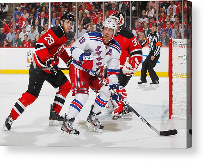 2684d517b Playoffs Acrylic Print featuring the photograph New York Rangers V New  Jersey Devils - Game Four