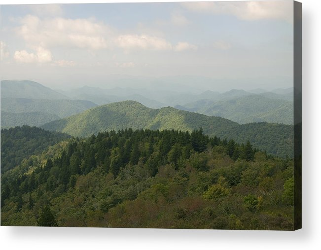 Mountain Acrylic Print featuring the photograph North Carolina Blue Ridge Mountains by Charles Beeler