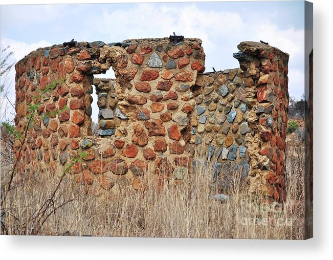 Old Ruin Abandoned Acrylic Print featuring the photograph Old Ruin Abandoned by Herman Cloete
